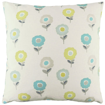 Annika Daisy Teal Cushion