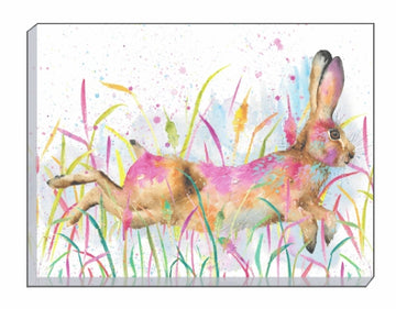 Artistic Animals Running Hare Canvas Wall Art