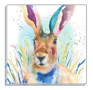 Artistic Animals Portrait Hare Canvas Wall Art