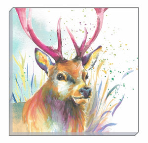 Artistic Animals Stag Canvas Wall Art