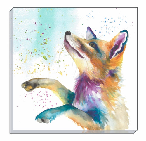 Artistic Animals Fox Canvas Wall Art