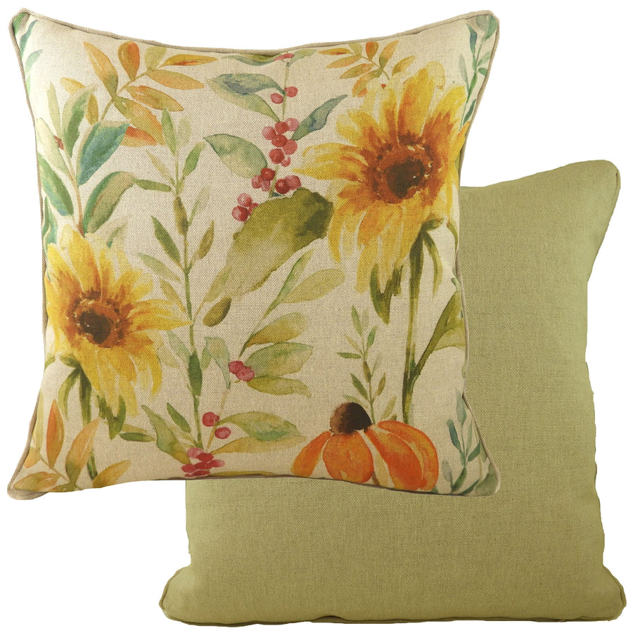Botanics Sunflower Piped Cushion