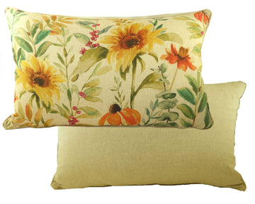 Botanics Sunflower Oblong Piped Cushion