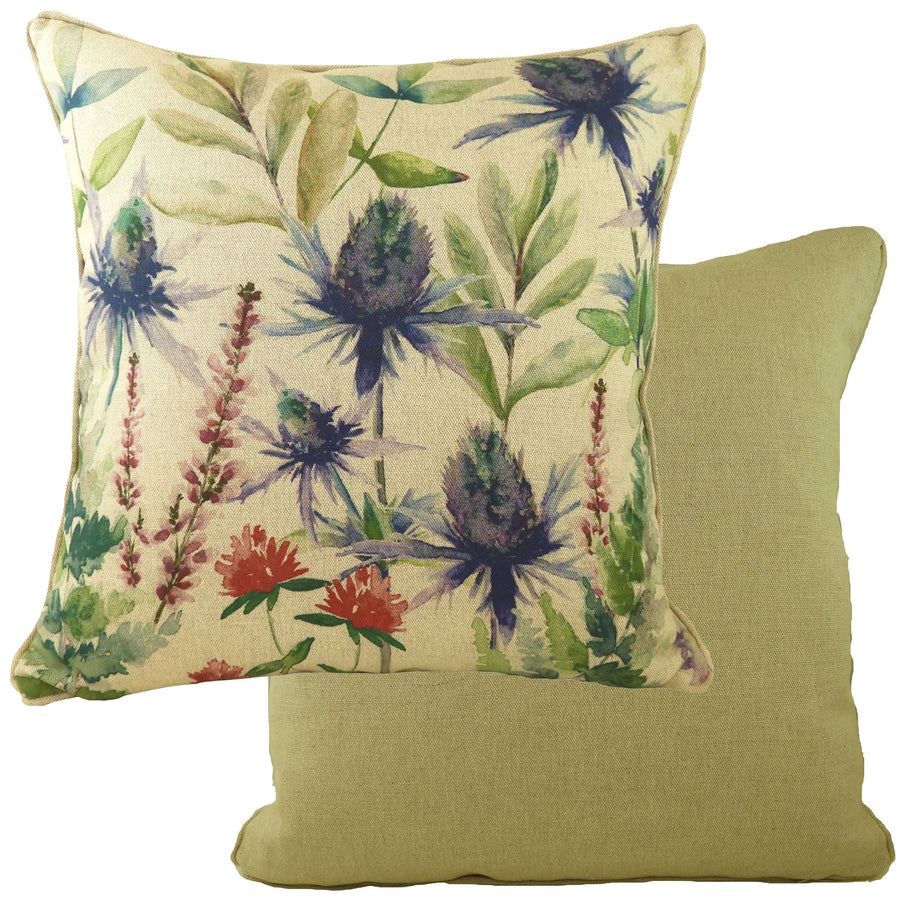 Botanics Thistles Piped Cushion