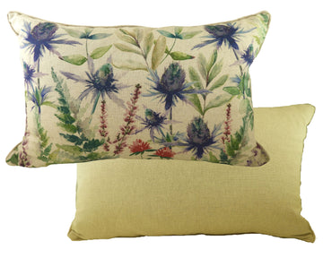 Botanics Thistles Oblong Piped Cushion
