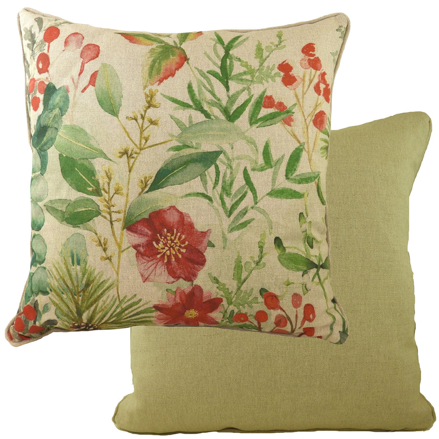Botanics Winter Florals Piped Cushion