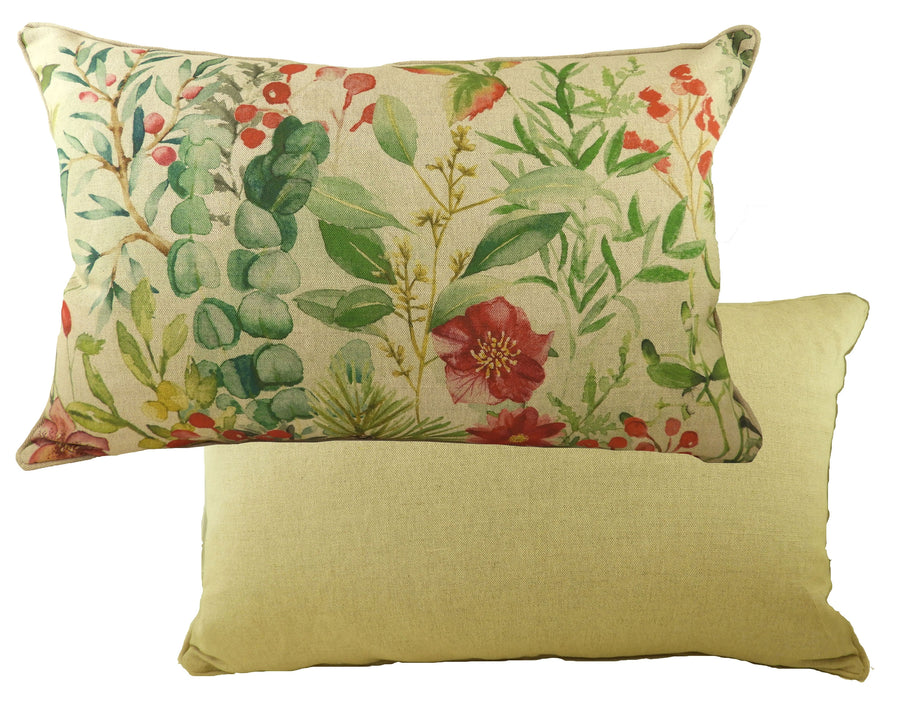 Botanics Winter Florals Oblong Piped Cushion