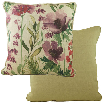 Botanics Amethyst Florals Piped Cushion