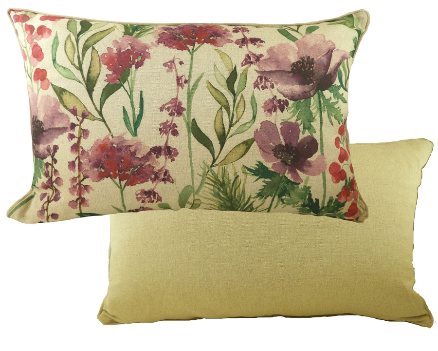 Botanics Amethyst Florals Oblong Piped Cushion