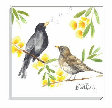 British Birds Blackbirds Canvas Wall Art