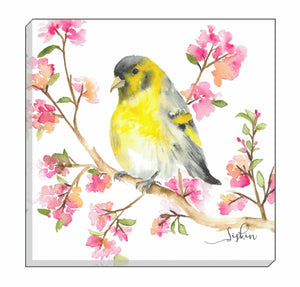 British Birds Siskin Canvas Wall Art