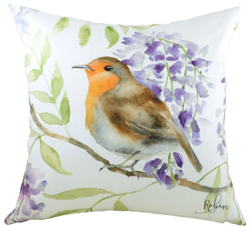 British Birds Robin Cushion