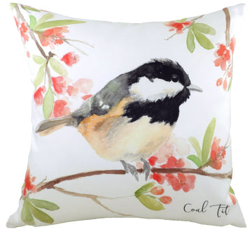 British Birds Coal Tit Cushion