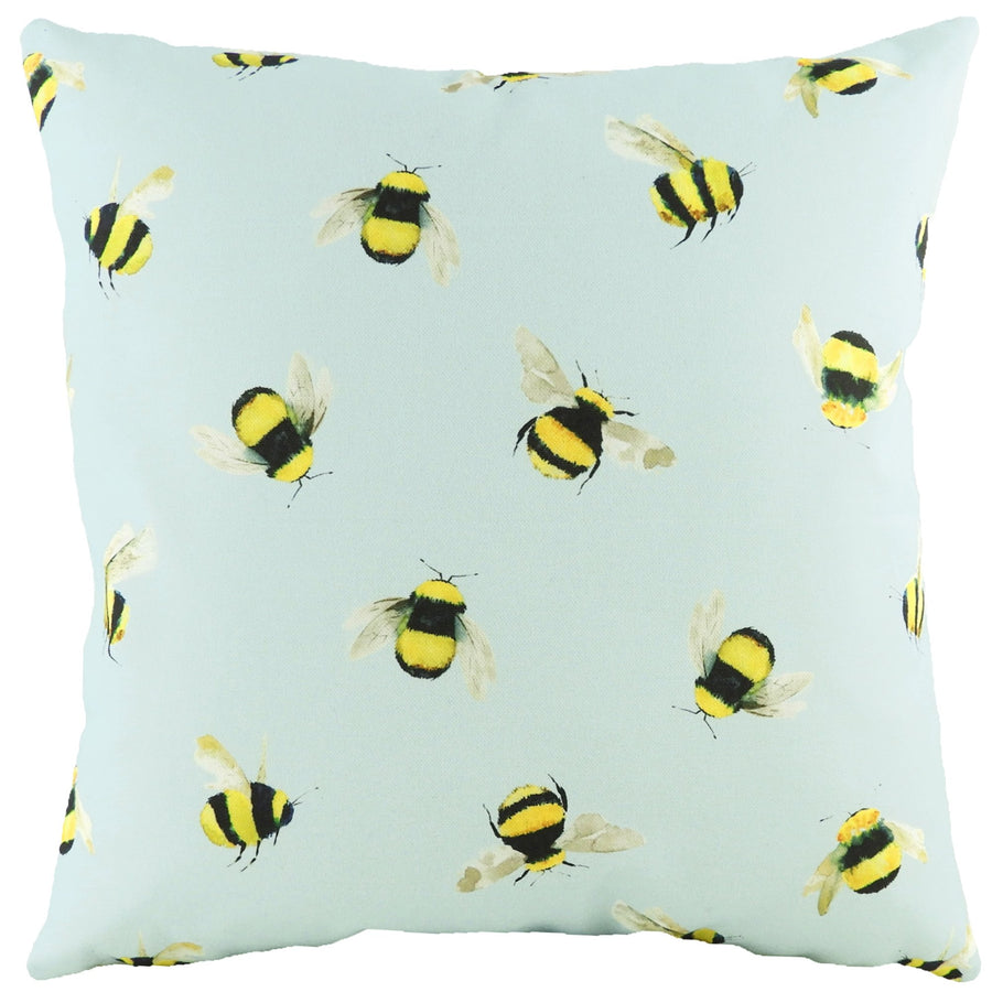 Busy Bees Blue Cushion