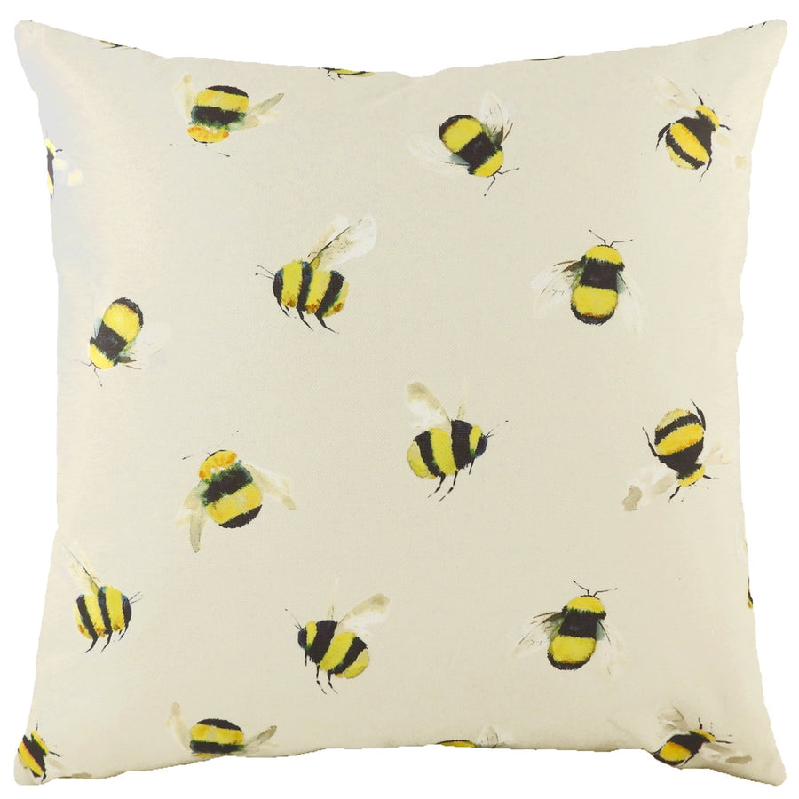 Busy Bees Taupe Cushion