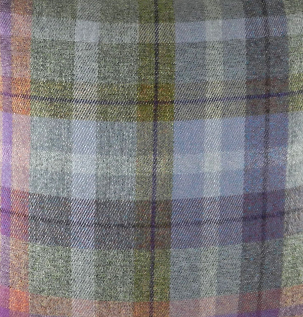 Country Manor Check Heather Fabric - by the metre
