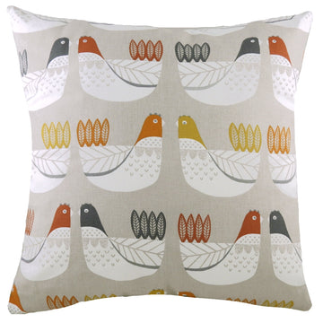 Cluck Cluck Terracotta Cushion