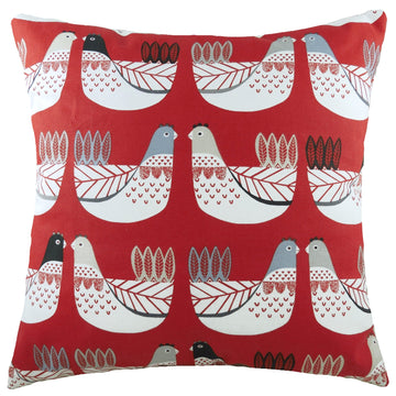 Cluck Cluck Scarlet Cushion