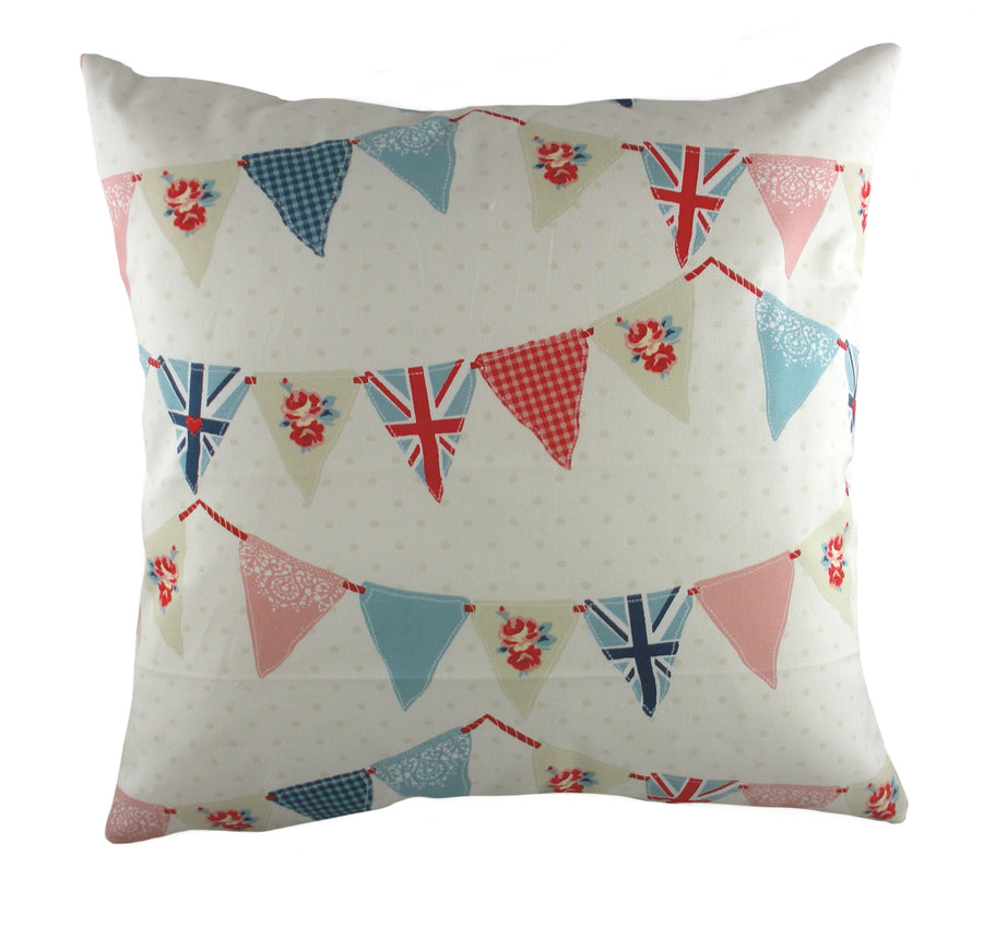 Coast Bunting Blue Cushion