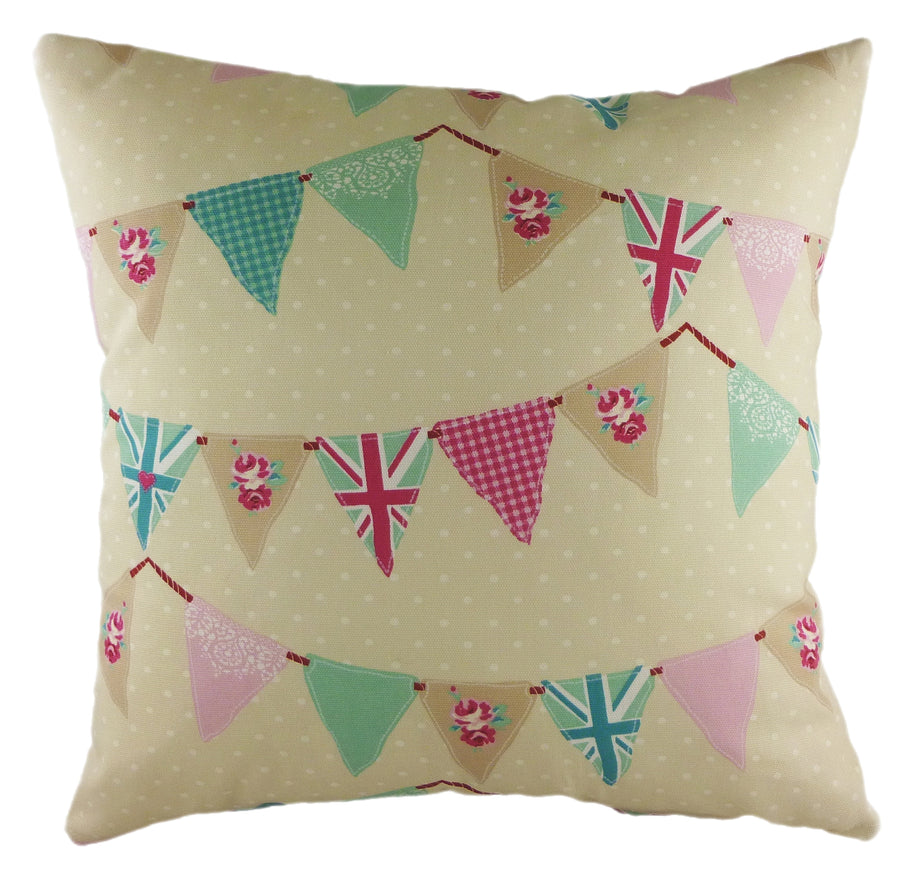 Coast Bunting Pink Cushion