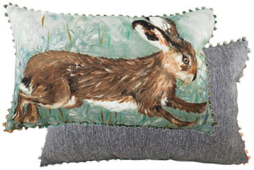 Dartmoor Leaping Hare Cushion