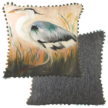 Dartmoor Heron Bobble Trim Cushion