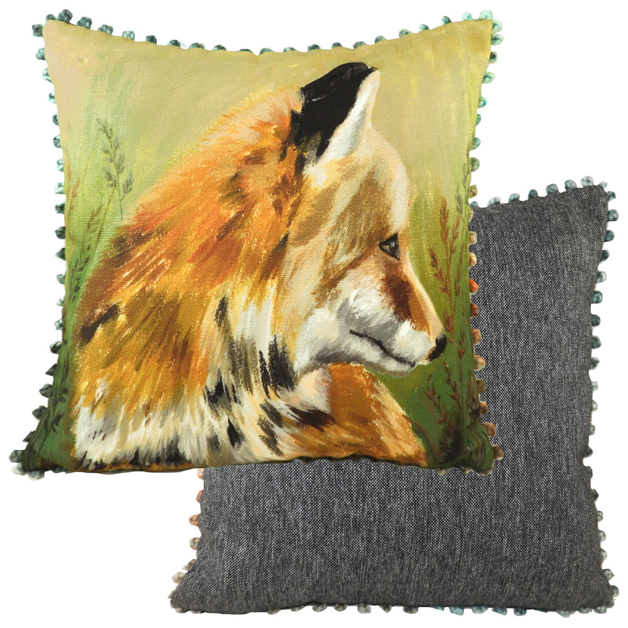 Dartmoor Fox Bobble Trim Cushion