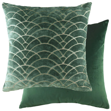 Dinaric Fern/Velvet Dark Green Cushion