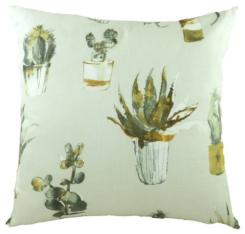 Eclectic Cactus Ochre Cushion