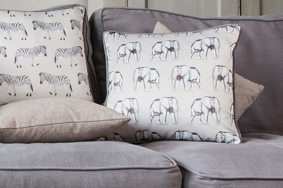 Safari Elephant Steel Piped Cushion