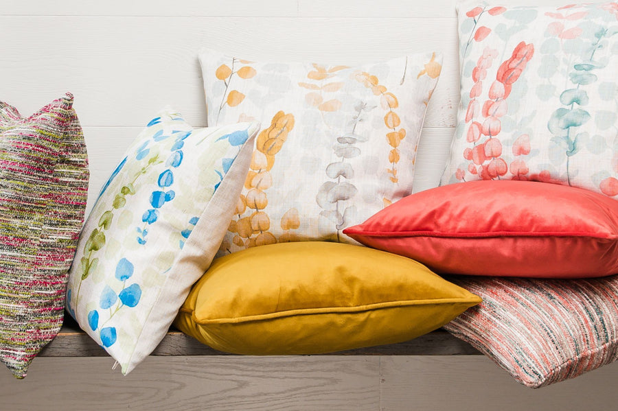 Flourish Ochre Cushion