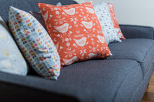 Nordic Geometric Burnt Orange Cushion
