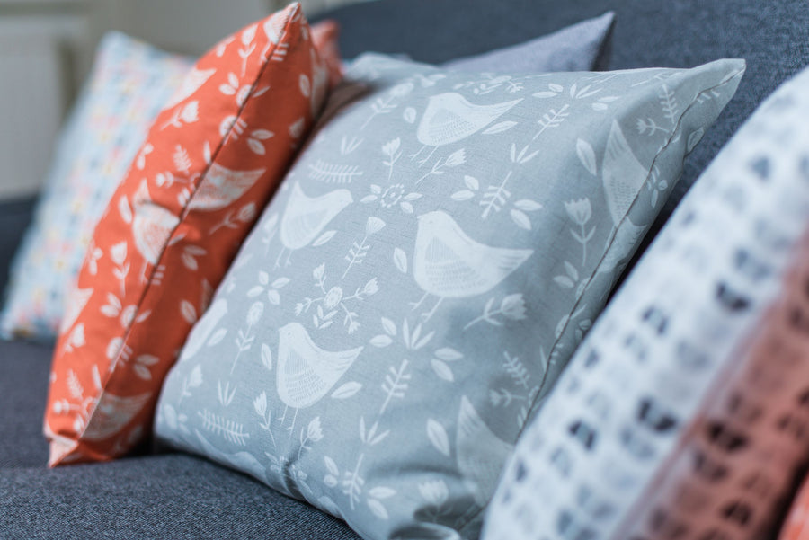 Nordic Birds Grey Cushion