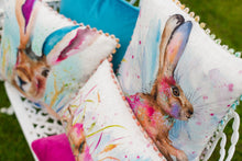 Artistic Animals Profile Hare Bobble Trim Cushion