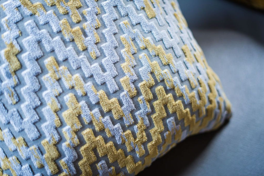 Marrakesh Chevron Gold Cushion