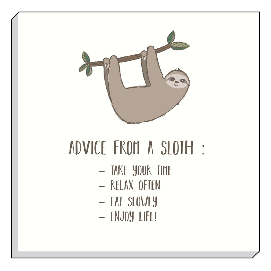 Fantasy Sloth Advice Canvas