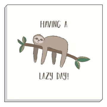 Fantasy Sloth Lazy Day Canvas