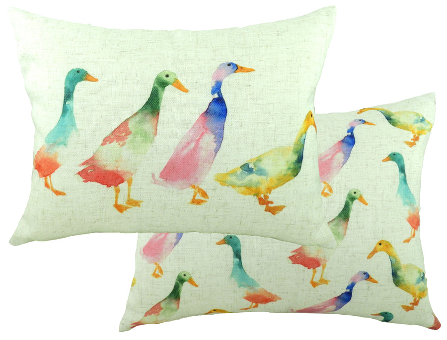 Fantasy Ducks Oblong Cushion