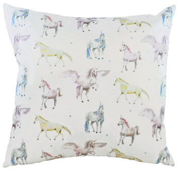 Fantasy Unicorns Square Cushion