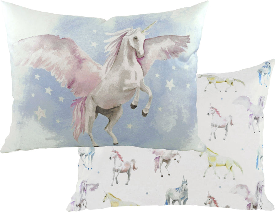 Fantasy Unicorns Oblong Cushion