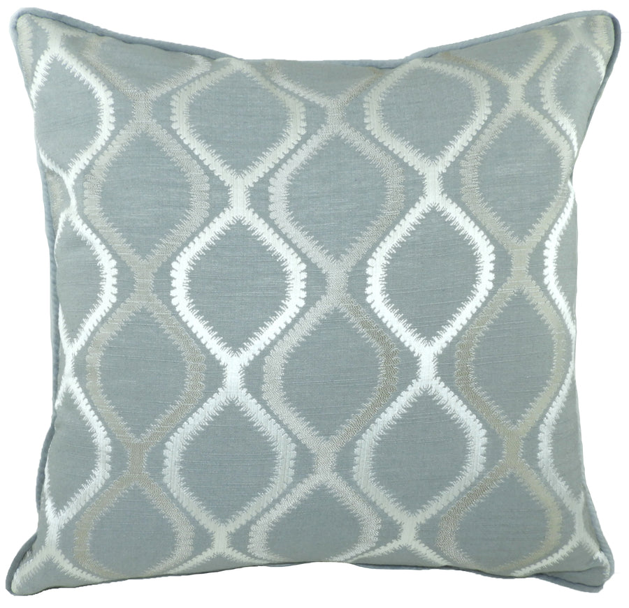 Fawsley Knoll Grey Piped Cushion