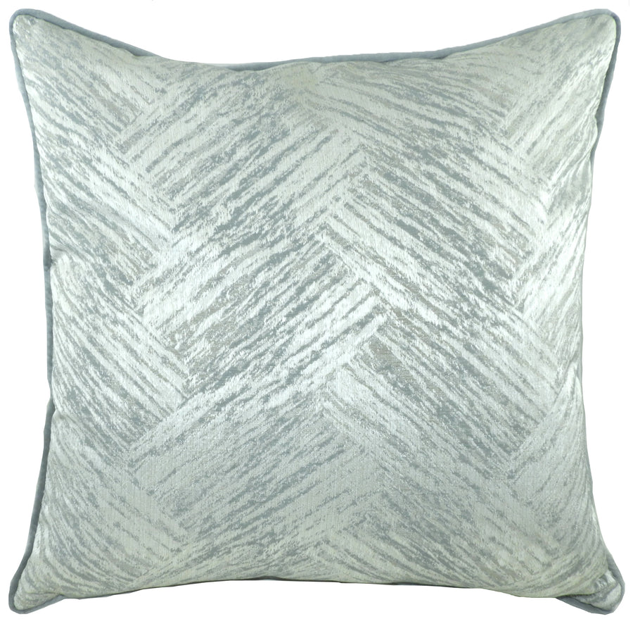 Fawsley Hillier Grey Piped Cushion