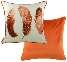 Feathers Pumpkin Piped Cushion