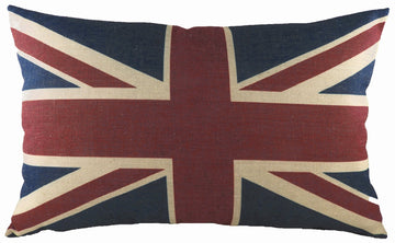 Printed Union Jack Oblong Cushion