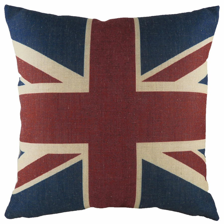 Printed Union Jack Square Cushion