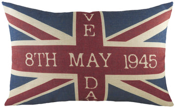 Printed Union Jack VE Day Cushion
