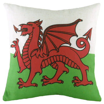 Printed Flag Wales Cushion