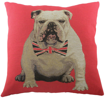 Churchill Bulldog Tapestry Cushion.