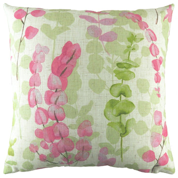 Flourish Eucalyptus Magenta Cushion