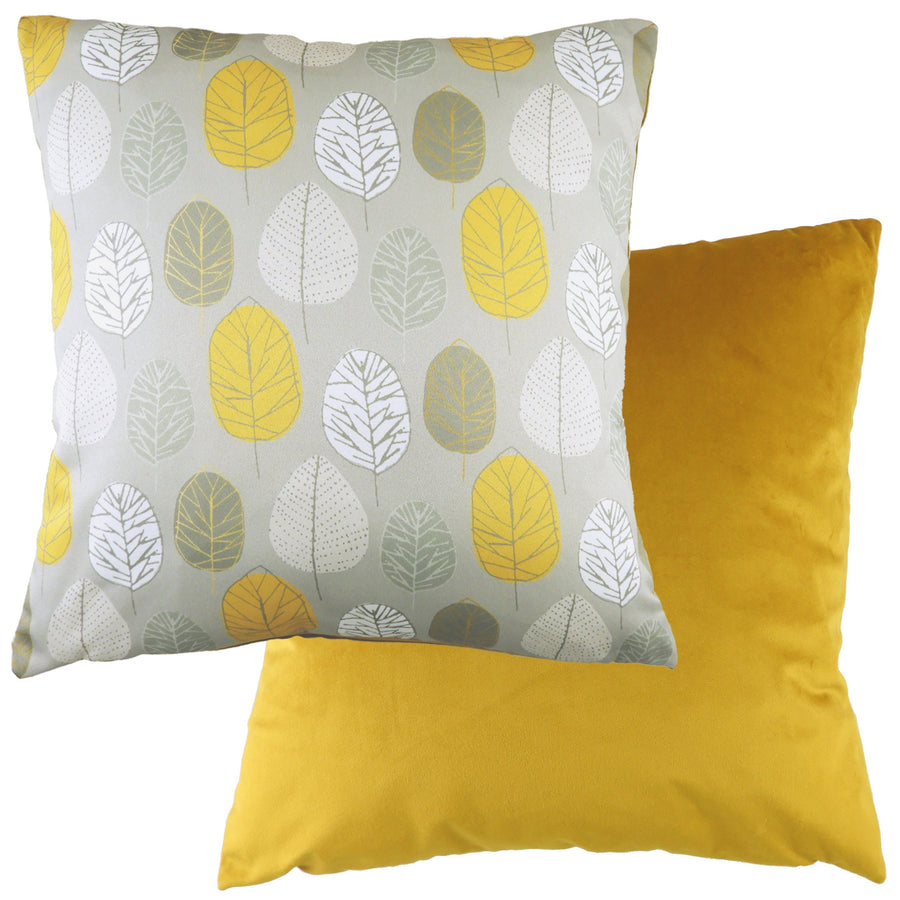 Flourish Leaf Ochre Cushion